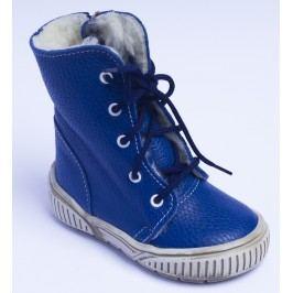 První krůčky Chlapecké zimní boty se zipem - modré