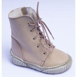 První krůčky Dětské zimní boty se zipem - béžové