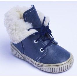 První krůčky Chlapecké zimní boty s tkaničkami - modré