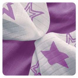 XKKO Bambusové ubrousky Stars 30x30 cm, 9ks, Lilac stars mix