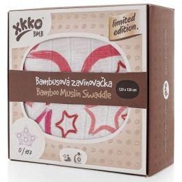XKKO Bambusová zavinovačka Limited Edition 120x120 cm, Purpurová hvězda