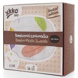 XKKO Bambusová zavinovačka Limited Edition 120x120 cm, Barevná peříčka