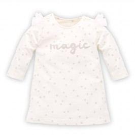 Pinokio Dívčí šaty s hvězdičkami Magic - béžové