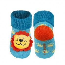 SOXO® Chlapecké ponožky se lvem - tyrkysové