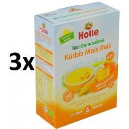 Holle BIO zeleninová kaše s dýní, kukuřicí a rýží 3x175g