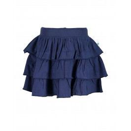 Blue Seven Dívčí sukně s volány - tmavě modrá
