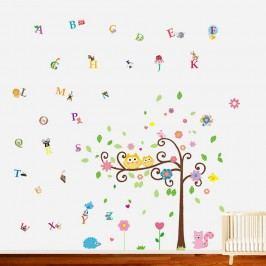 Walplus Samolepky na zeď, sovičky na stromě + písmenka