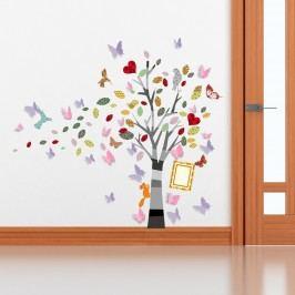 Walplus Samolepky na zeď, strom s motýlky