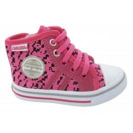 Canguro Dívčí vzorované kotníkové tenisky - růžové