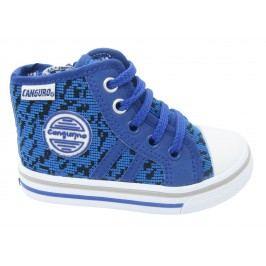 Canguro Chlapecké vzorované kotníkové tenisky - modré