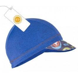 Unuo Chlapecká čepice s kšiltem Kočka a pes UV 50+ - modrá