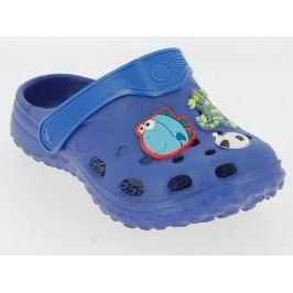 V+J Chlapecké sandály se zvířátky - modré