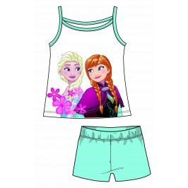 Disney by Arnetta Dívčí set tílka a kraťas Frozen - světle modrý