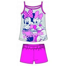 Disney by Arnetta Dívčí set tílka a kraťas Minnie - šedo-růžový