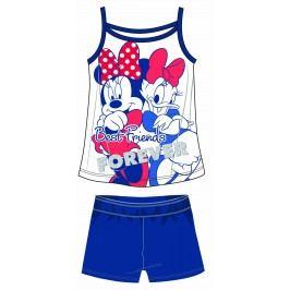 Disney by Arnetta Dívčí set tílka a kraťas Minnie - bílo-modrý