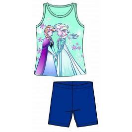Disney by Arnetta Dívčí set tílka a kraťas Frozen - modrý