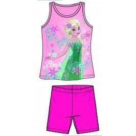Disney by Arnetta Dívčí set tílka a kraťas Frozen - růžový