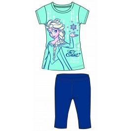 Disney by Arnetta Dívčí set trička a capri kalhot Frozen - modrý