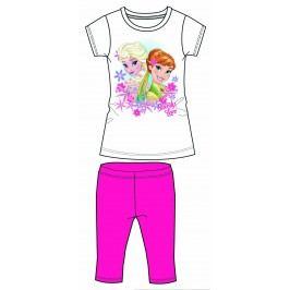 Disney by Arnetta Dívčí set trička a capri kalhot Frozen - tmavě růžový