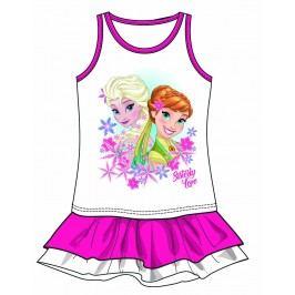 Disney by Arnetta Dívčí šaty Frozen - růžové