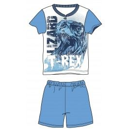 Mix 'n Match Chlapecké pyžamo T-Rex - světle modré