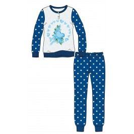 Mix 'n Match Chlapecké pyžamo Hearts - modro-bílé