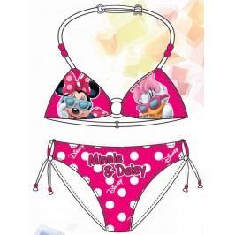 Disney by Arnetta Dívčí dvoudílné plavky Minnie-Daisy - růžové
