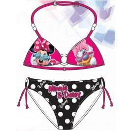 Disney by Arnetta Dívčí dvoudílné plavky Minnie-Daisy - růžovo-černé