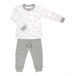 Makoma Dětské pyžamo Jumper se zajíčky - šedobílý