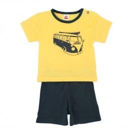 Makoma Chlapecký letní komplet Transporter - žlutomodrý