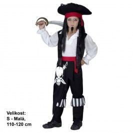 MaDe Kostým na karneval - Pirát, 110 - 120 cm