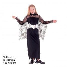 MaDe Kostým na karneval - Královna pavouků, 120-130 cm