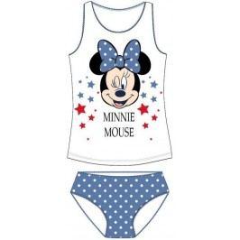 E plus M Dívčí set tílka a kalhotek Minnie - bílo-modrý