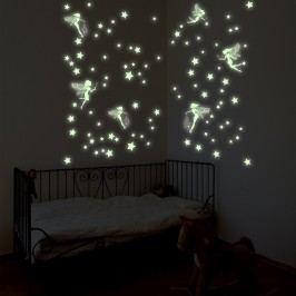 Walplus Samolepky na zeď, víly a hvězdičky