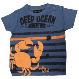 Blue Seven Chlapecké tričko s krabem - modré