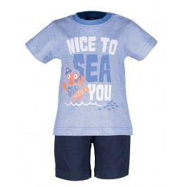 Blue Seven Chlapecký set trička a kraťasů - modrý