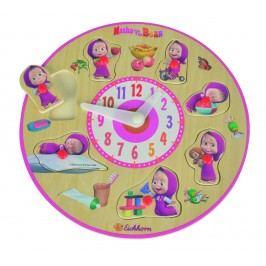 Simba Máša a medvěd- Dřevěné vkládací hodiny