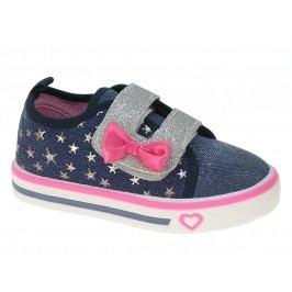 Beppi Dívčí svítící tenisky s hvězdičkami - modré