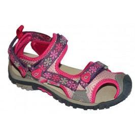 Bugga Dívčí sandály s kytičkami - růžové