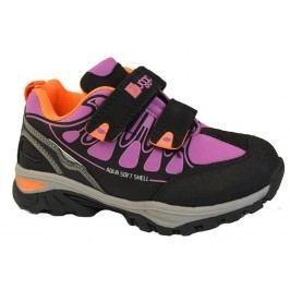 Bugga Dívčí softshellová obuv - černo-růžová