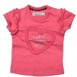 Dirkje Dívčí tričko se srdcem - červené