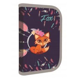 Karton P+P Penál 1patrový 2 klopy prázdný Premium Fox