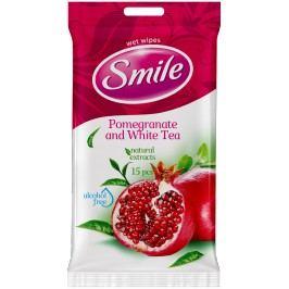 SMILE Vlhčené ubrousky Granátové jablko/bílý čaj 2x15 ks