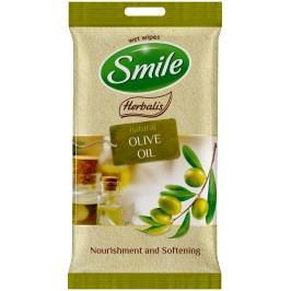 SMILE Vlhčené ubrousky Olivový olej 2x10 ks