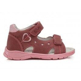 Ponte 20 Dívčí sandály se srdíčky - růžové