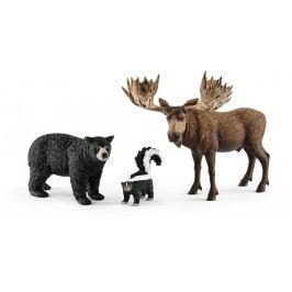 Schleich Set lesní zvířátka severní Ameriky 41456