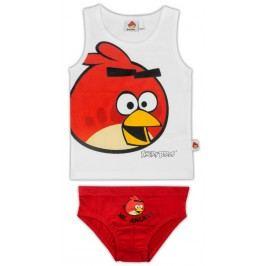 E plus M Chlapecký set tílka a slipů Angry Birds - bílo-červený