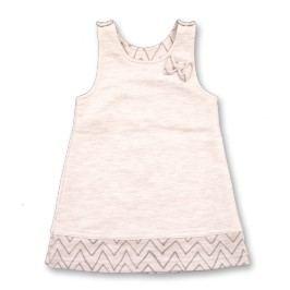 Lafel Dívčí šaty funny Fox - béžové