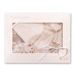 Lafel Chlapecký kojenecký set Funny Fox - béžový