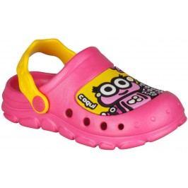 Coqui Dívčí sandály Stoney - růžovo-žluté